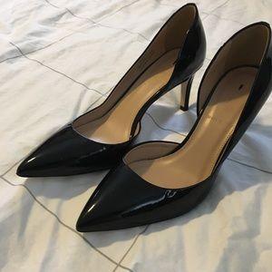 Mona patent leather heels // J. Crew